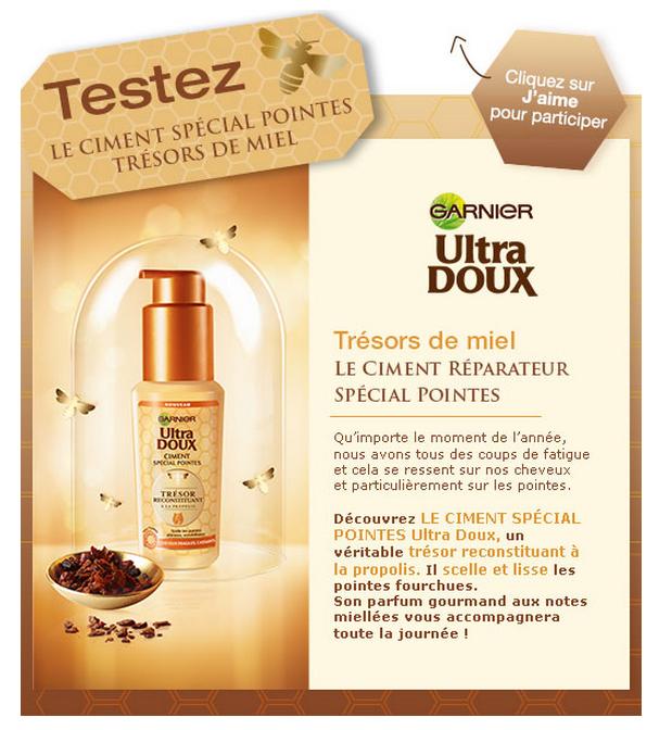 Test de produit : Ciment Spécial Pointes Trésors de Miel Garnier - anti-crise.fr