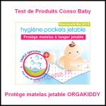 Test de Produit Conso Baby : Protège matelas jetable ORGAKIDDY - anti-crise.fr