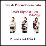 Test de Produit Conso Baby : Porte bébé évolutif de Pognae - anti-crise.fr