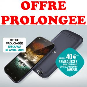 anti-crise.fr Offre de Remboursement 40€ sur Smartphone Wiko Darkfull