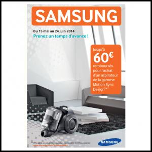 Offre de Remboursement Samsung jusqu'à 60 € sur les Aspirateurs Motion Sync  Design - anti-crise.fr