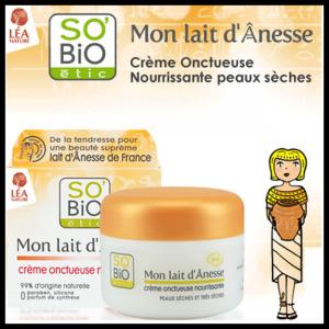 Test de Poduit Beauté-Test : Mon Lait d'Ânesse de SO'BiO étic - anti-crise.fr