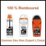 100 % Remboursé Leclerc : Gamme Déo Men Expert L'Oréal - anti-crise.fr