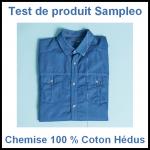 Test de Produit Sampleo : Chemise 100 % Coton Hédus - anti-crise.fr