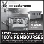 Offre de Remboursement Castorama : 2 Pots Imprégnant Protecteur remboursés pour l'achat d'un abris - anti-crise.fr