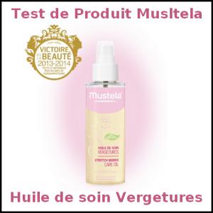 Test de Produit Mustela : Huile de soin Vergetures - anti-crise.fr