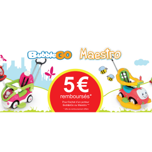 Offre de Remboursement Smoby : 5 € sur les Bubble Go Maestro - anti-crise.fr