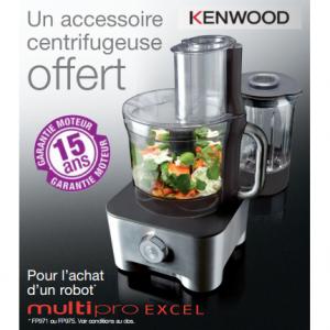 Bon Plan Kenwood : Pour l'achat d'un robot, Un accessoire centrifugeuse Offert - anti-crise.fr
