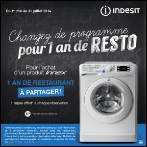 Bon Plan Indesit : Un An de Resto pour l'Achat d'un produit Innex - anti-crise.fr