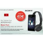 Offre de Remboursement Sony / SFR : Jusqu'à 40 € pour l'achat d'un Xperia E1 - anti-crise.fr