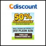 offre de Remboursement Cdiscount : 50 % en Un Bon d'Achat sur le 2ème Jeu Plein Air - anti-crise.fr