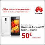 Offre de Remboursement Huawei 50 € pour l'achat d'un Huawei Ascend P1 Noir ou Blanc - anti-crise.fr