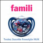 Test de Produit Famili : Sucette Freestyle NUK - anti-crise.fr