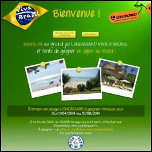 Instants Gagnants Longboard : Un Séjour au Brésil pour 2 Personnes à Gagner - anti-crise.fr