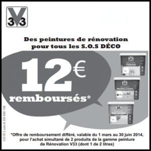 Offre de Remboursement Castorama : 12€ pour l'Achat de 2 Produits Rénovation V33 - anti-crise.fr