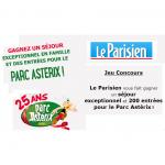 Tirage au Sort Le Parisien : Un Séjour et des Places pour le Parc Astérix à Gagner - anti-crise.fr