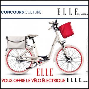 Tirage au Sort Elle : Vélo électrique ELLE by Matra à Gagner - anti-crise.fr