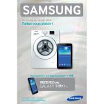 Bon Plan Samsung : Pour l'achat d'un Lave-linge Une Tablette Galaxy Tab3 à 10 € - anti-crise.fr