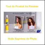Test de Produit Au Féminin : Huile Suprême de Phyto - anti-crise.fr