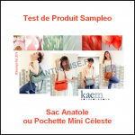 Test de Poduit Sampleo : Sac Anatole ou Pochette Mini Céleste Kaem - anti-crise.fr