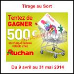Tirage au Sort Auchan : Un chèque 500 € à Gagner - anti-crise.fr