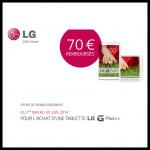 Offre de Remboursement LG 70 € sur Tablette G Pad 8.3 - anti-crise.fr