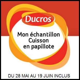 Echantillon Ducros sur Facebook : Cuisson en Papillotte - anti-crise.fr