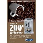 Offre de Remboursement De'Longhi jusqu'à 200 € pour l'achat d'une machine espresso avec broyeur - anti-crise.fr