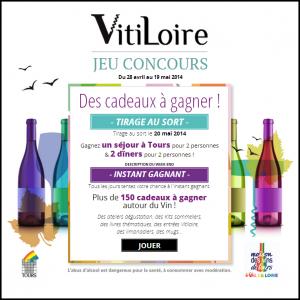 Instants Gagnants Vitiloire sur Facebook : Un week Vitiloire à Tours pour 2 personnes - anti-crise.fr
