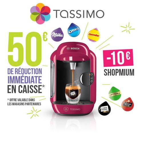 Offre de remboursement shopmium 10€ sur tassimo vivy