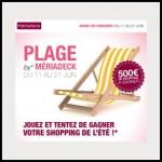 Instants Gagnants Mériadeck sur Facebook : Carte cadeau de 15€ à Gagner - anti-crise.fr