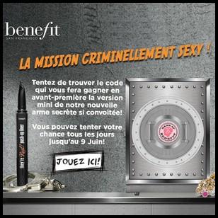 Instants Gagnants + Tirage au Sort Benefit Cosmetics sur Facebook : Un An de mascara They're Real à Gagner - anti-crise.fr