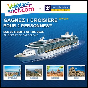 Tirage au Sort Voyages SNCF / Royal Caribbean : Une Croisière d'Une semaine en Méditerranée à Gagner - anti-crise.fr