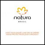 Instant Gagnants Natura Brasil : Crème hydratante de jour Chronos à Gagner - anti-crise.fr
