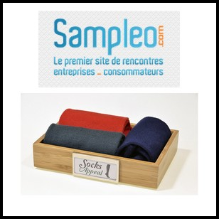 Test de Produit Sampleo : Lot de 2 paires de chaussettes Socks Appeal - anti-crise.fr
