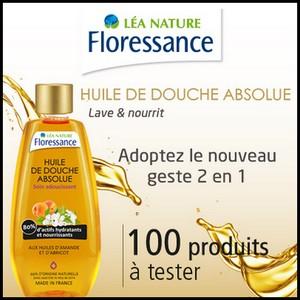 Test de produit Beauté Test : Huile de douche Amande et Abricot de Floressance - anti-crise.fr