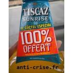 Offre de Remboursement Tiscaz Sunrise : 100 % Remboursé en Un Bon d'Achat - anti-crise.fr