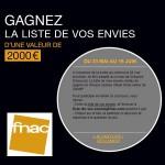 Tirage au Sort Fnac : 1 chèque cadeau d'une valeur de 2000€ à Gagner - anti-crise.fr