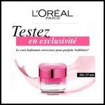 Echantillon L'Oréal : Soin hydratant correcteur Sublimist - anti-crise.fr