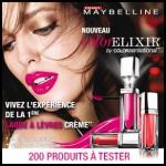 Test de Produit Beauté Test : Laque à lèvres crème Gemey-Maybelline - anti-crise.fr