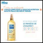 Instants Gagnants Mixa sur Facebook : 1 huile corps sous la douche Nutrition minute à Gagner - anti-crise.fr