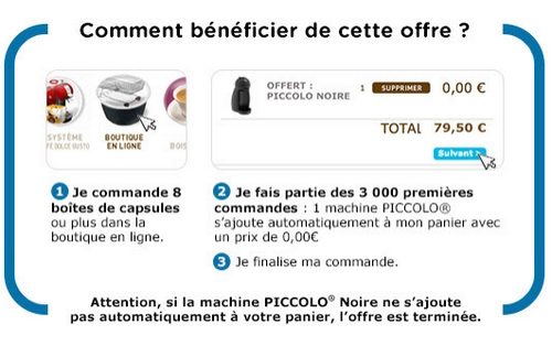 anti-crise.fr bon plan machine à café piccolo offerte