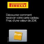 anti-crise.fr offre pirelli pneus achetes carte cadeau fnac offerte