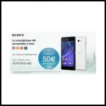 Offre de Remboursement (ODR) Sony : Jusqu'à 50 € pour l'achat d'un mobile Sony Xperia™ M2 - anti-crise.fr