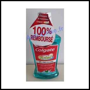 Offre de Remboursement (ODR) Colgate : Bain de Bouche Total 100 % remboursé- anti-crise.fr