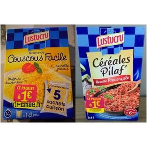 Offre de Remboursement (ODR) Lustucru : Couscous Facile ou Céréales Pilaf' à 1 € - anti-crise.fr