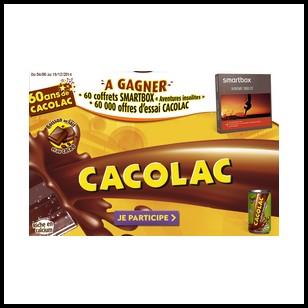 Instants Gagnants + Tirage au Sort Cacolac : Coffrets Smartbox et Bons de Réduction à Gagner - anti-crise.fr
