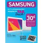 """Offre de Remboursement (ODR) Samsung : Jusqu'à 30 € remboursés pour l'achat d'une tablette Galaxy Tab 4 10.1"""" - anti-crise.fr"""