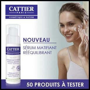 Test de Produit Beauté Test : Sérum matifiant rééquilibrant Soie Lactée de Cattier - anti-crise.fr