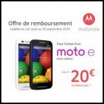 Offre de Remboursement Motorola : Jusqu'à 20 € Remboursés pour l'achat d'un Moto e - anti-crise.fr